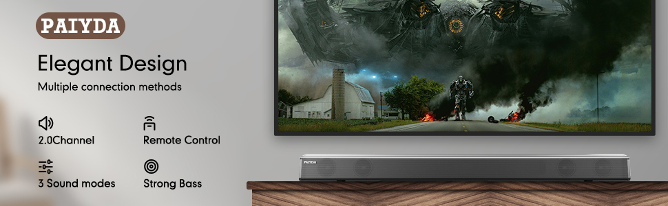 Bluetooth Soundbar for TV