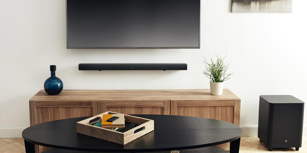 Wall mounted soundbar