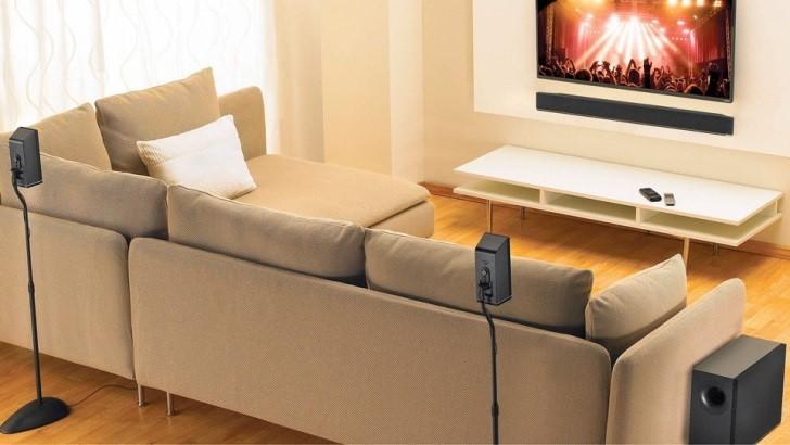 soundbar under the sofa